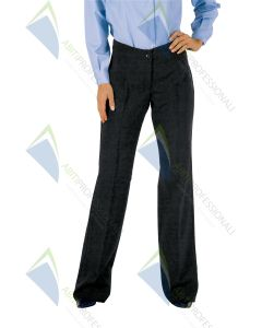 TRENDY BLACK WOOL PANTS 60% POL.40%