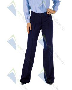 TRENDY BLUE WOOL PANTS 60% POL.40%