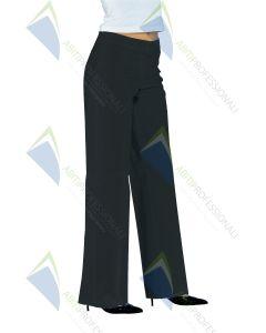 TRENDY BLACK STRETCH PANTS COT.97% SP