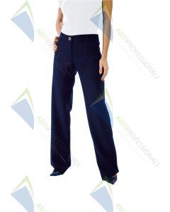 TRENDY BLUE WOOL PANTS 100%