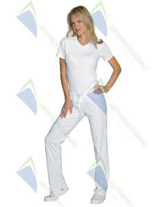 PANTA JERSEY WHITE COT. 92% elastane 8%