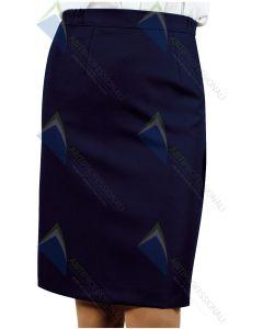 LAUSANNE WOOL SKIRT BLUE WOOL 100%