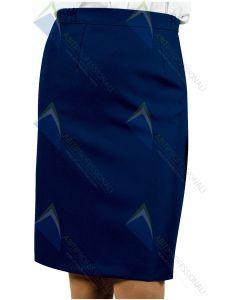 LAUSANNE BLUE WOOL SKIRT 60% POL.40%
