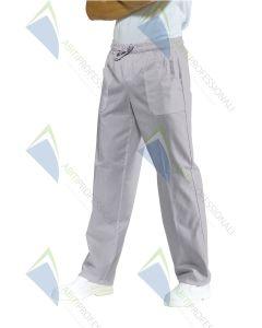 PANTS W / ELASTIC GREY POL / COT