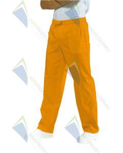 PANTS W / ELASTIC APRICOT POL / COT