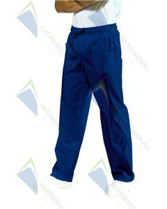 PANTS W / ELASTIC BLU POL / COT