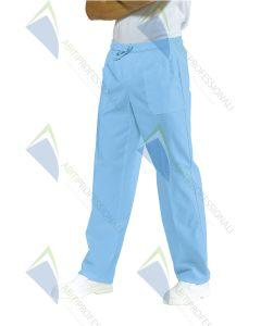 PANTS W / BLUE ELASTIC COT.100%