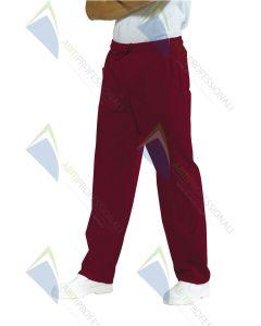 PANTS W / ELASTIC BORDEAUX POL / COT