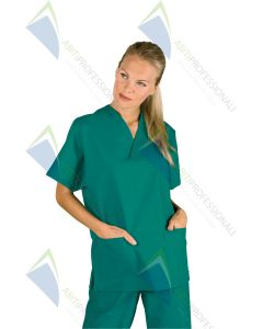 BLOUSE V NECK SURGERY GREEN UNISEX