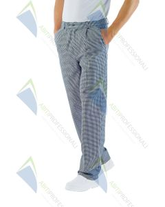PANTS COOK HOUNDSTOOTH TG 62 COT.