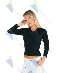 STRETCH T-SHIRT M / LONG BLACK 95% COT