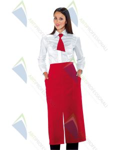 VERSAILLES APRON RED POL. 100%