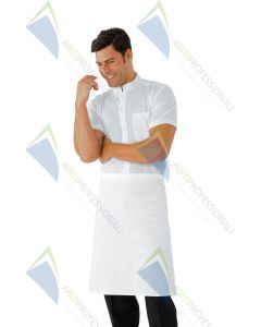 WAIST APRON 70x60 S / C POCKET WHITE