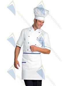 CHEF HAT WHITE + BLUE CHINA COT.100%