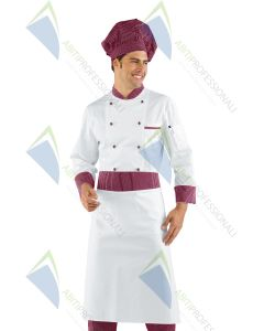 CHEF HAT VIENNA BORDEAUX COT.100%