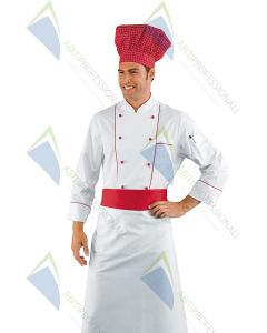 COOK CHEF JACKET RED COT.100%