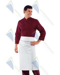 CHEF JACKET BORDEAUX POL / COT.