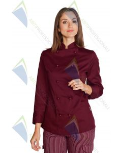 LADY JACKET BURGUNDY POL / COT