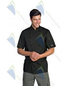 EXTRALIGHT CHEF JACKET M / M BLACK POL / COT