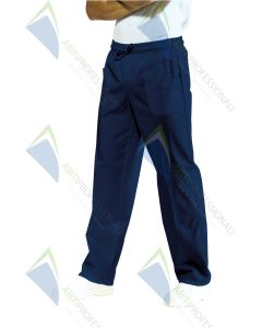 PANTS W / BLUE ELASTIC COT.100%
