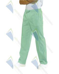PANTS W / ELASTIC LIGHT GREEN COT.100%