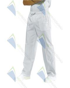PANTS W / ELASTIC WHITE 3XL COT.100%