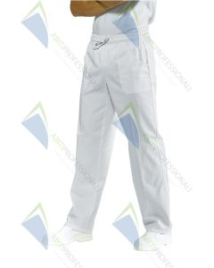 PANTS W / ELASTIC WHITE COT.100%